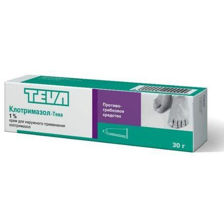Клотримазол-Тева, 1%, крем для наружного применения, 30 г, 1шт.