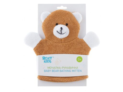 Roxy-kids Махровая мочалка-рукавичка Baby Bear, 1шт.