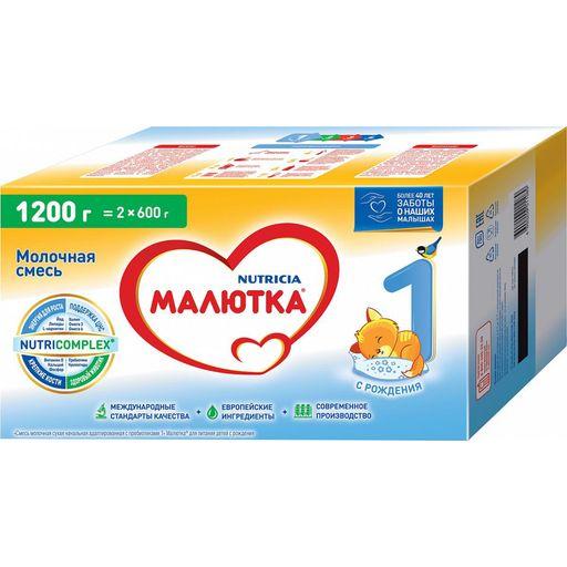 Малютка 1 Молочная смесь, смесь молочная сухая, 1200 г, 1шт.