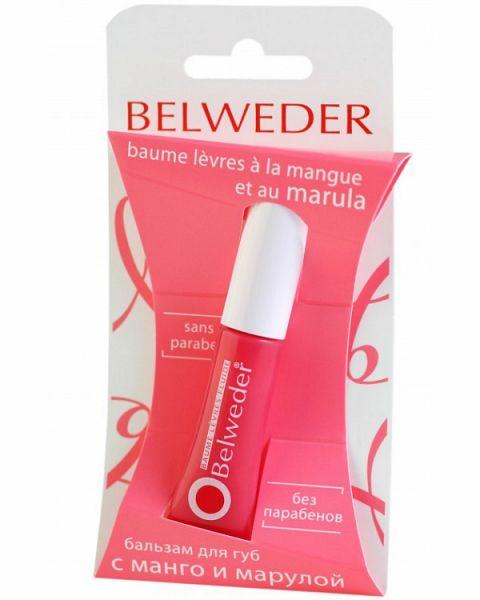 Belweder Бальзам для губ с манго и марулой, бальзам для губ, 7 мл, 1шт.