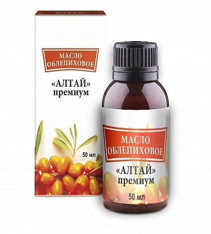 Облепиховое масло Алтай премиум, масло, 50 мл, 1шт.