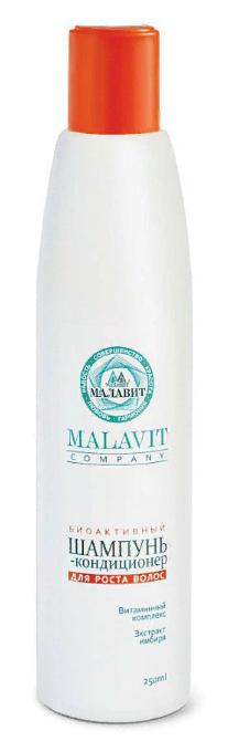 Малавит шампунь-кондиционер биоактивный для роста волос, шампунь-кондиционер, 250 мл, 1шт.