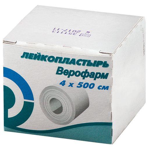 Лейкопластырь Верофарм, 4х500см, пластырь медицинский, 1шт.
