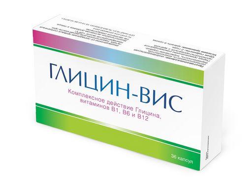 Глицин-Вис, 0.4 г, капсулы, 36шт.