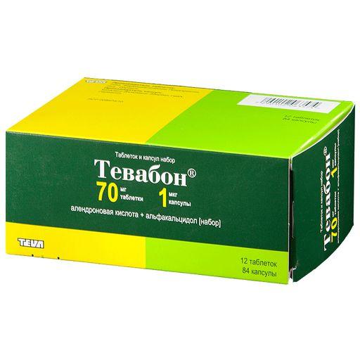 Тевабон, таблеток и капсул набор, 96шт.