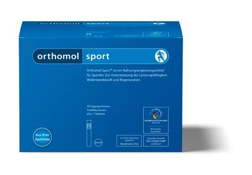 Orthomol Sport, питьевые бутылочки и таблетки, на 30 дней, 30шт.