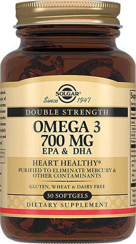 Solgar Двойная Омега-3 700 мг ЭПК и ДГК, 700 мг, капсулы, 30шт.