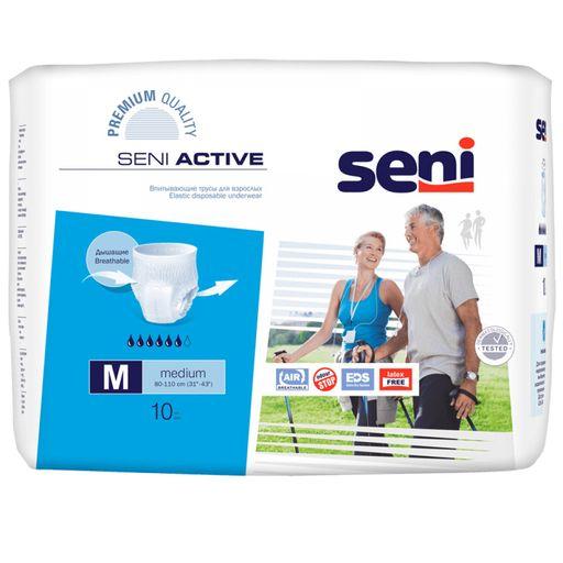 Подгузники-трусы для взрослых Seni Active, Medium M (2), 80-110 см, 10шт.