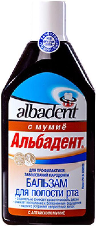 Альбадент бальзам с мумие, бальзам для полости рта, 400 мл, 1шт.