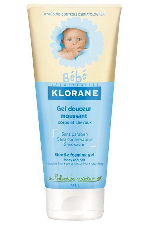 Klorane Bebe Мягкий пенящийся гель для волос и тела, гель для детей, 200 мл, 1шт.