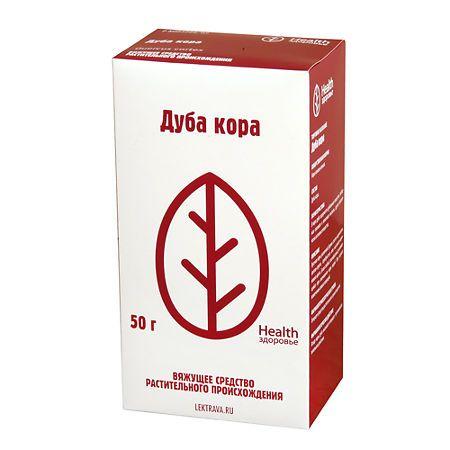 Дуба кора, сырье растительное измельченное, 50 г, 1шт.