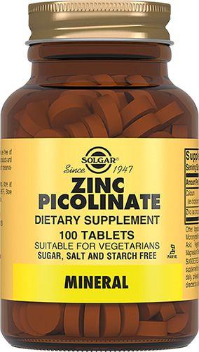 Solgar Пиколинат цинка, таблетки, 100шт.