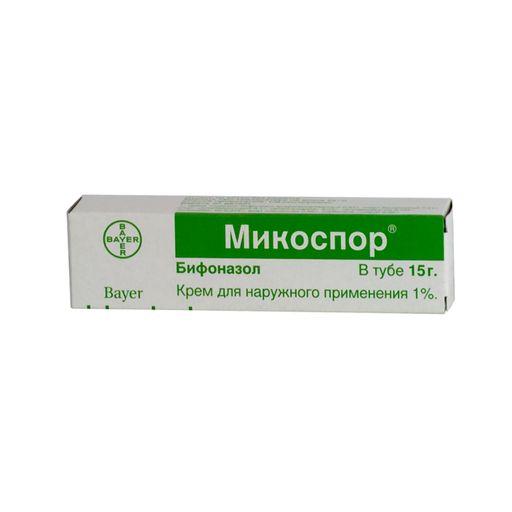 Микоспор, 1%, крем для наружного применения, 15 г, 1шт.