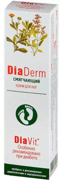 ДиаДерм Смягчающий крем для ног, крем для ног, 75 мл, 1шт.