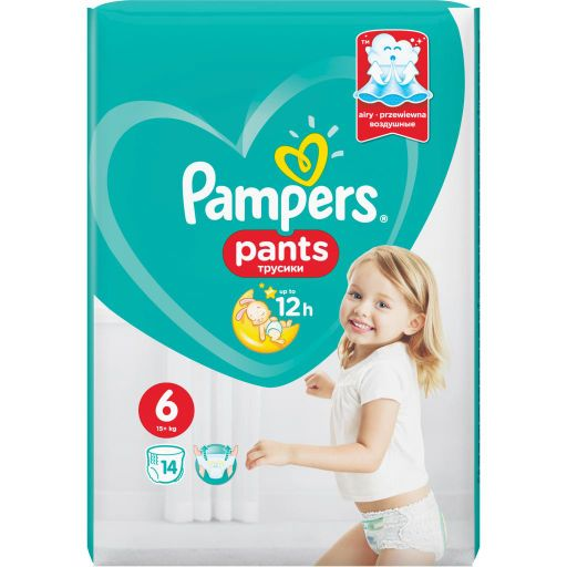 Pampers Pants Подгузники-трусики детские, р. 6, 15+ кг, 14шт.