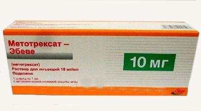 Метотрексат-Эбеве, 10 мг/мл, раствор для инъекций, 1 мл, 1шт.