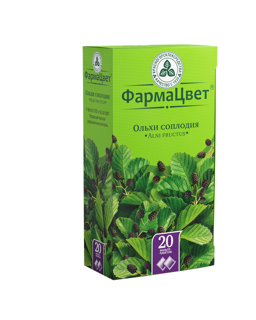 Ольхи соплодия, сырье растительное-порошок, 1.5 г, 20шт.