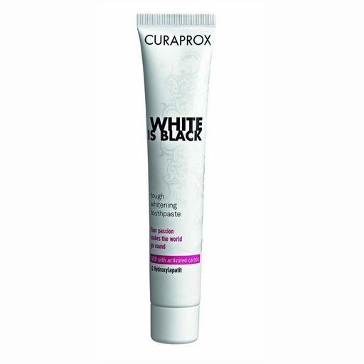 Curaprox White Is Black Зубная паста отбеливающая, паста зубная, с мятным вкусом, 90 мл, 1шт.