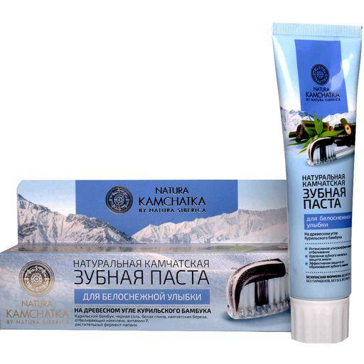 Natura kamchatka паста зубная Камчатская для белоснежной улыбки, паста зубная, 100 мл, 1шт.