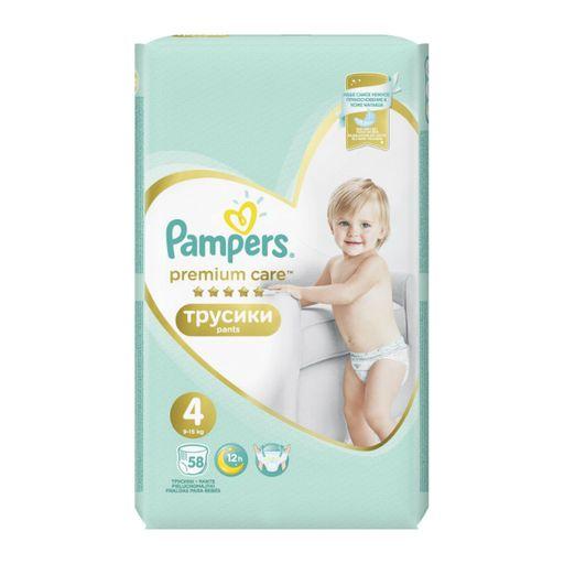 Pampers Premium Care pants Подгузники-трусики детские, р. 4, 9-15 кг, 58шт.