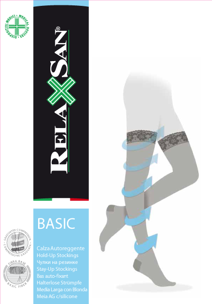 Relaxsan Stay-up Чулки компрессионные 1 класс компрессии 140 DEN, р. 2, арт. 870 (18-22 mm Hg), 140 DEN (черного цвета, на резинке), пара, 1шт.