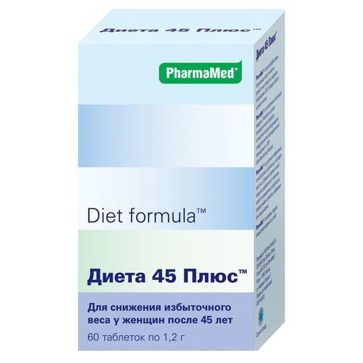 Diet formula Диета 45 плюс, 1.2 г, таблетки, 60шт.