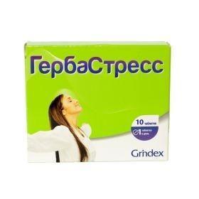 Гербастресс, 450 мг, таблетки, 10шт.