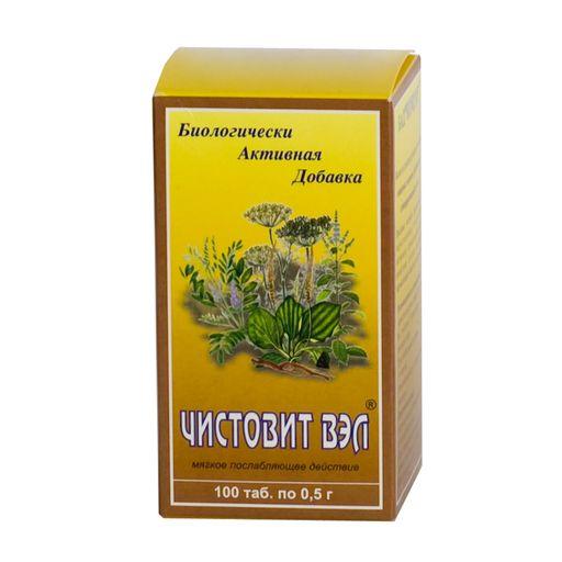 Чистовит-ВЭЛ, 0.5 г, таблетки, 100шт.