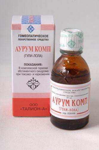 Аурум комп, капли для приема внутрь гомеопатические, 25 мл, 1шт.