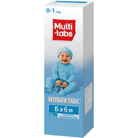 Мульти-табс Бэби, капли для приема внутрь для детей, 30 мл, 1шт.