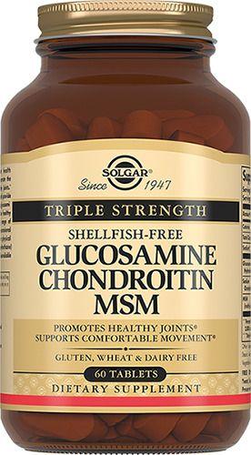 Solgar Комплекс глюкозамина и хондроитина, таблетки, 60шт.