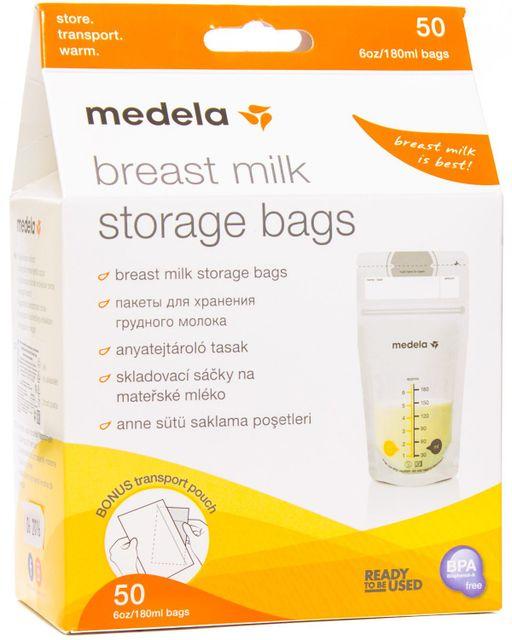 Medela Пакеты для хранения грудного молока, одноразовый (-ая, -ое, -ые), 180 мл, 50шт.