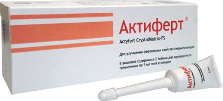 Актиферт CrystalMatrix-FS гель интимный, гель вагинальный, 5 мл, 2шт.