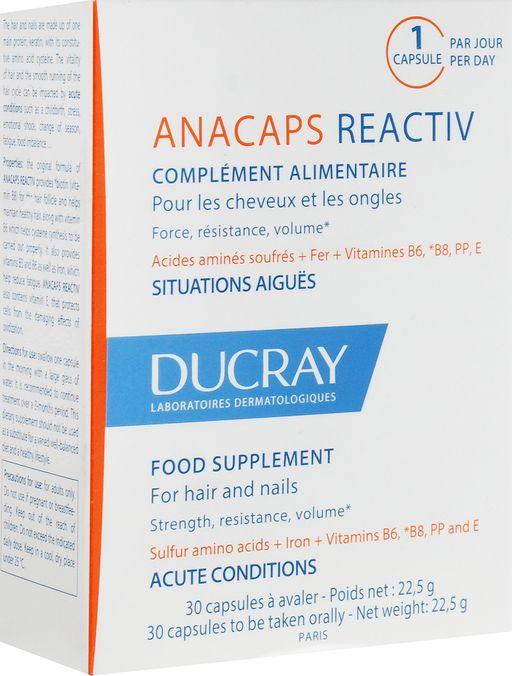 Ducray Анакапс Реактив для волос и кожи головы, 812 мг, капсулы, 30шт.