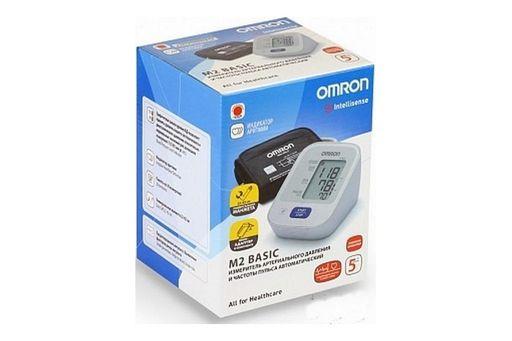 Тонометр автоматический OMRON М2 Basic, с адаптером и универсальной манжетой (22-42 см), 1шт.
