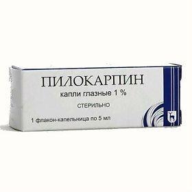 Пилокарпин, 1%, капли глазные, 5 мл, 1шт.