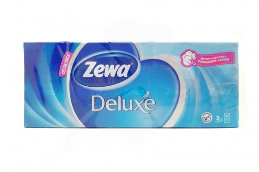 Zewa Deluxe платки носовые бумажные, 10х10, 100шт.