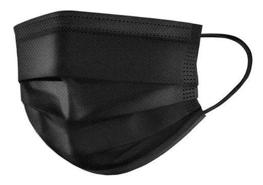 Клинса маска медицинская одноразовая трехслойная, черного цвета, 5шт.