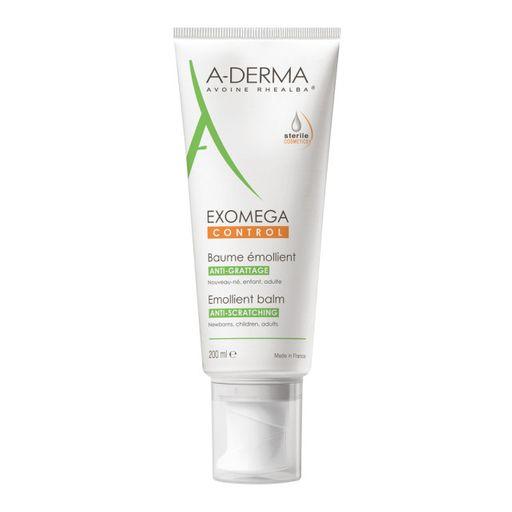 A-Derma Exomega Control бальзам смягчающий, бальзам для лица и тела, 200 мл, 1шт.
