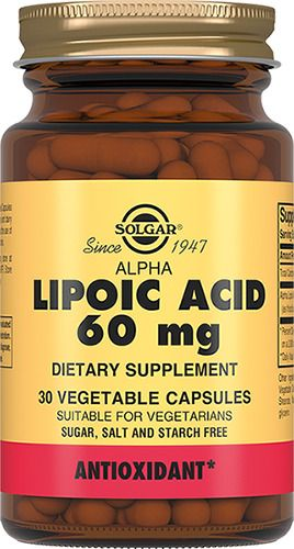 Solgar Альфа-липоевая кислота 60 мг, 60 мг, капсулы, 30шт.