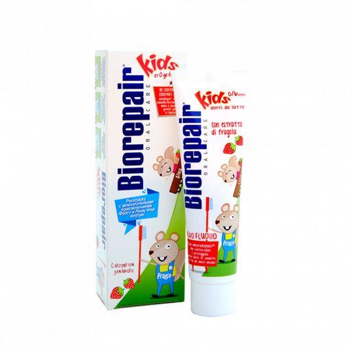 Biorepair kids Strawberry паста зубная детская, паста зубная, клубника, 50 мл, 1шт.