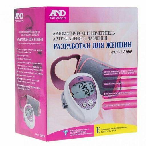 Тонометр автоматический AND UA-669, 1шт.