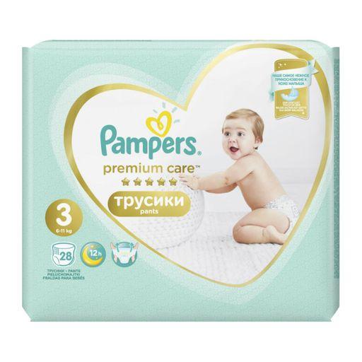 Pampers Premium Care pants Подгузники-трусики детские, р. 3, 6-11 кг, 28шт.