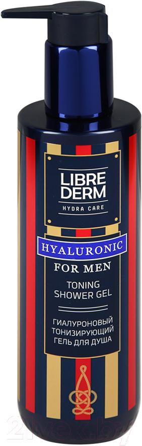 Librederm For Men гиалуроновый тонизирующий гель для душа, гель для душа, 250 мл, 1шт.