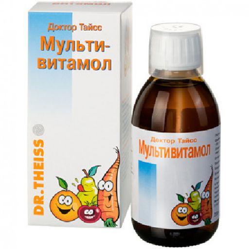 Доктор Тайсс Мультивитамол, раствор для приема внутрь, 200 мл, 1шт.