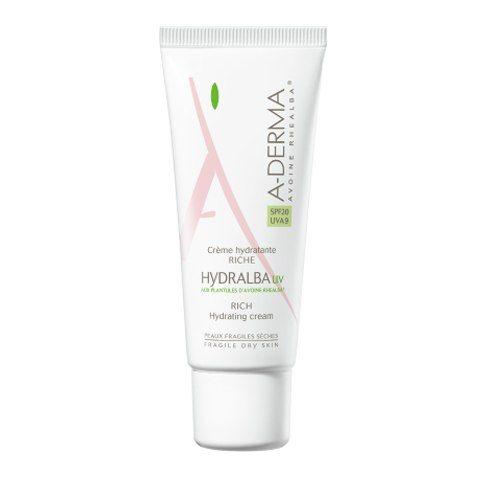 A-Derma Hydralba UV Крем для лица увлажняющий насыщенный, крем, 40 мл, 1шт.