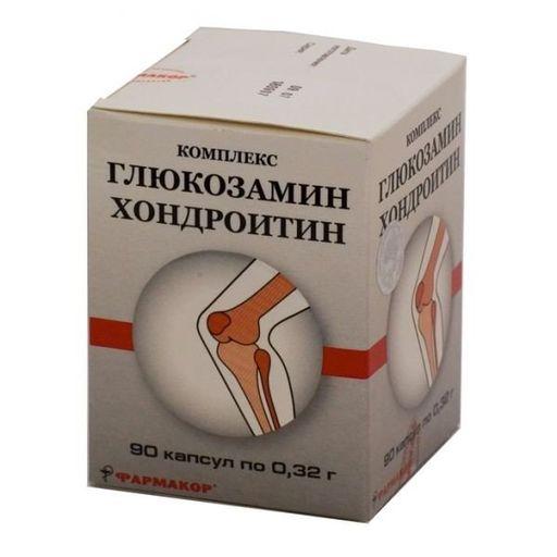 ГХК (глюкозамин-хондроитиновый комплекс), 0.32 г, капсулы, 90шт.