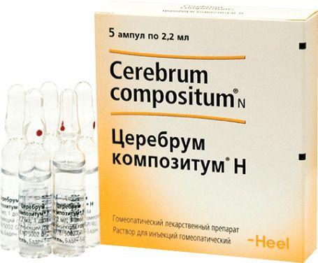Церебрум композитум Н, раствор для инъекций гомеопатический, 2.2 мл, 5шт.
