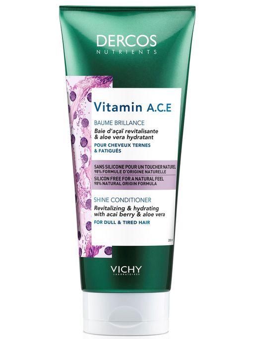 Vichy Dercos Nutrients Vitamin Кондиционер для блеска волос, 200 мл, 1шт.