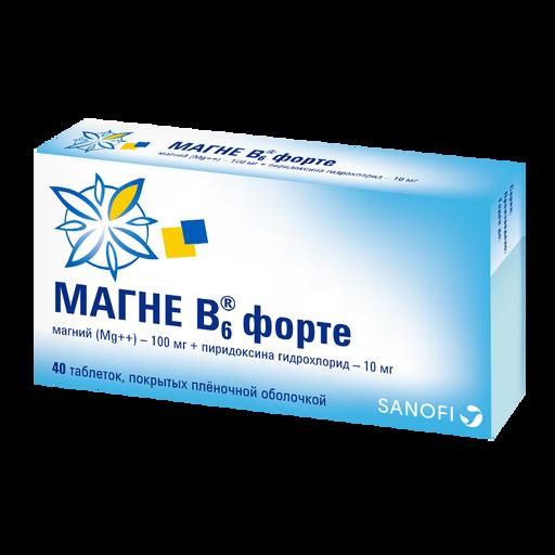 Магне B6 форте, таблетки, покрытые пленочной оболочкой, 40шт.